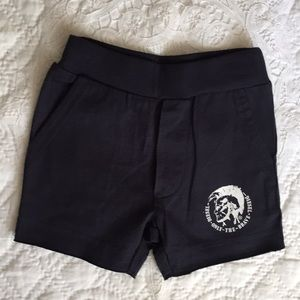 Diesel Navy Cotton Shorts With Pockets